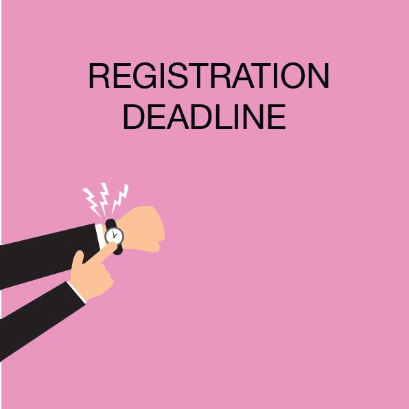 F2F Registration Deadlines – June 1st